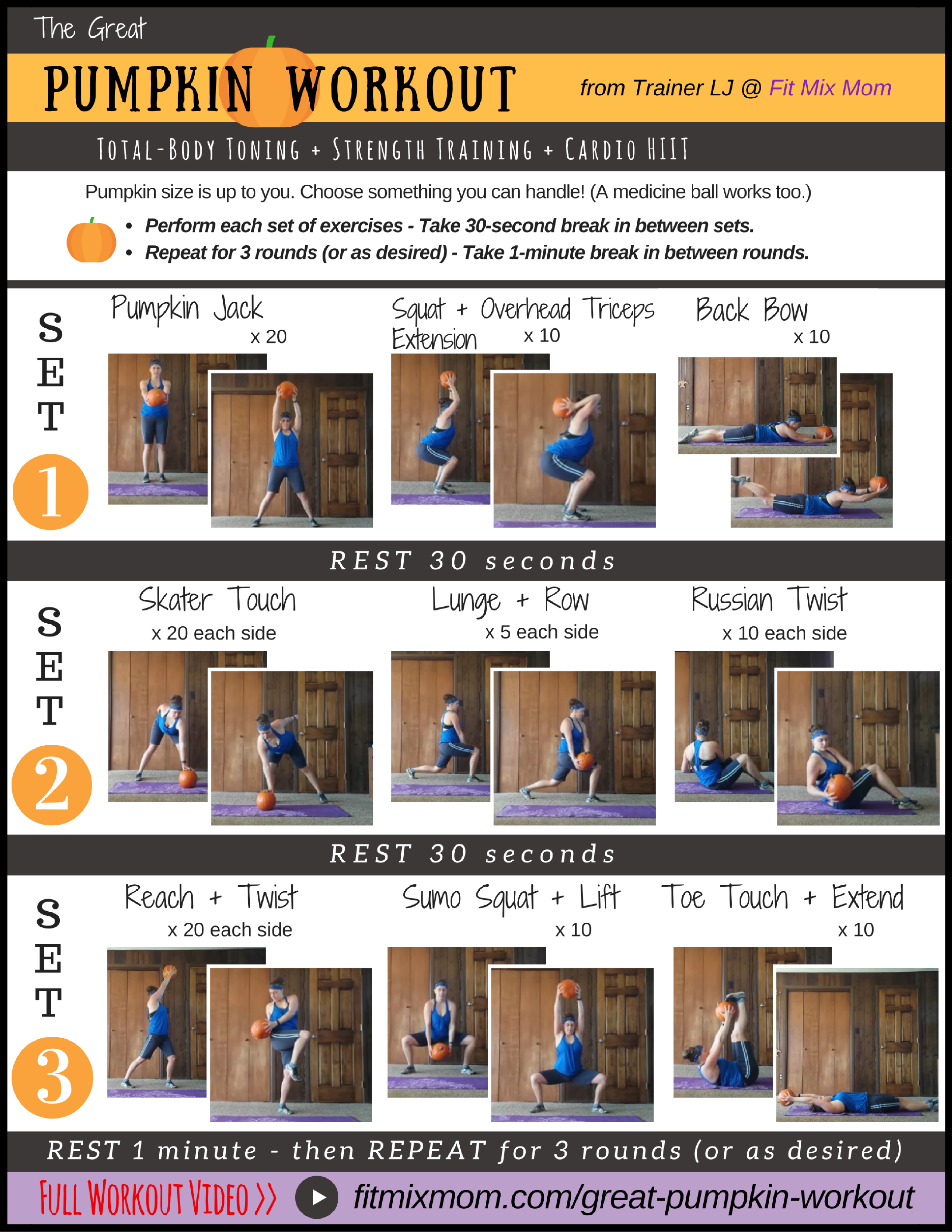 image regarding Printable Hiit Workouts identify The Good Pumpkin Exercise session [Movie + PRINTABLE] -